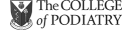 the college mof podiatry logo