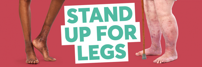 Stand up for Legs graphic for Legs Matter