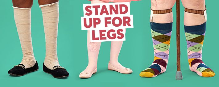 stand up for legs - Legs Matter campaign graphic