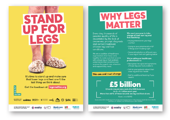 A5 Legs Matter Flyer - explains more about the scale of the problem