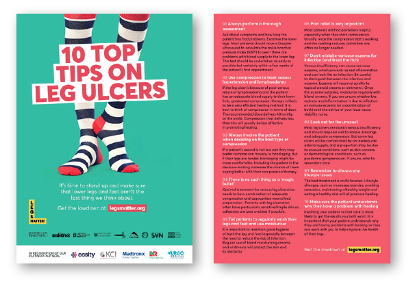 A5 10 Top Tips flyer – provides tips on how to look after your legs and feet
