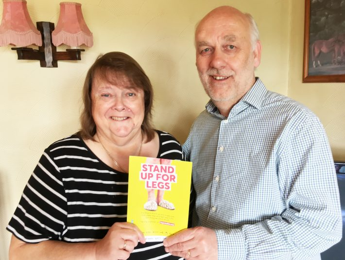 Sue and Mark Collier, Nurse Consultant and Associate Lecturer - Tissue Viability – Legs Matter week campaign