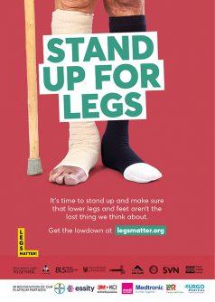 LEGS MATTER - A4 POSTER RED
