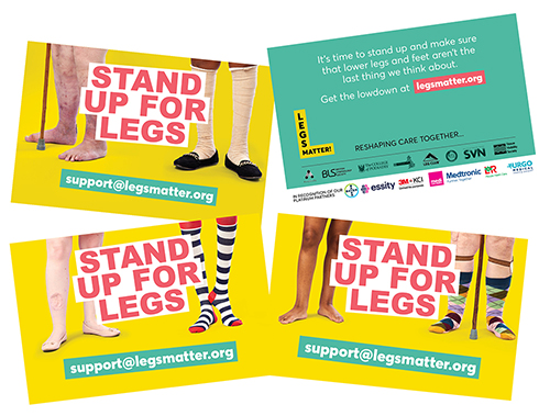 LEGS MATTER - BIZ CARDS WITH CORPORATE PARTNER LOGOS 2020 ARRANGED ON A PAGE