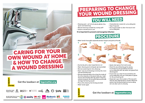 How to change a wound dressing leaflet