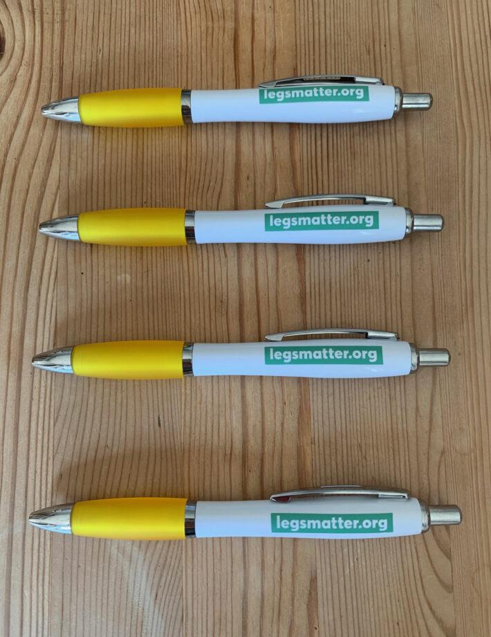 Legs Matter pens