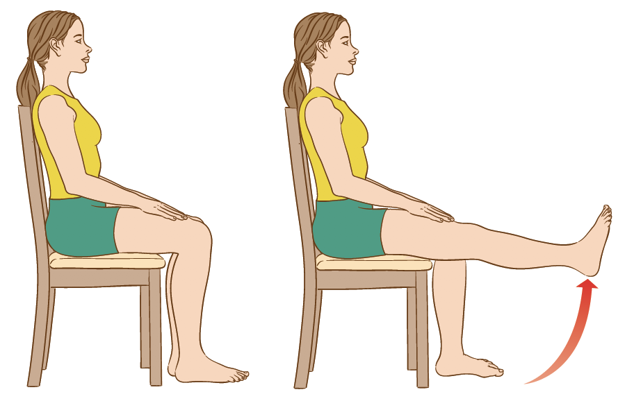 Leg raises exercises for people with leg ulcers during the coronavirus