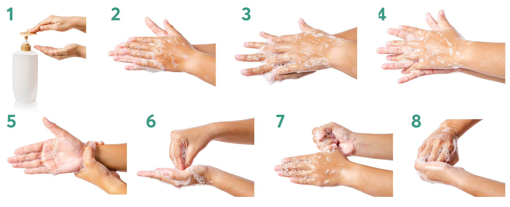 Washing hands diagrams