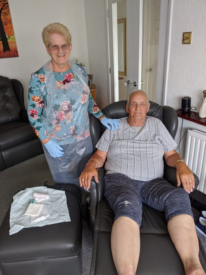 Peter and Pat Hilton self caring at home