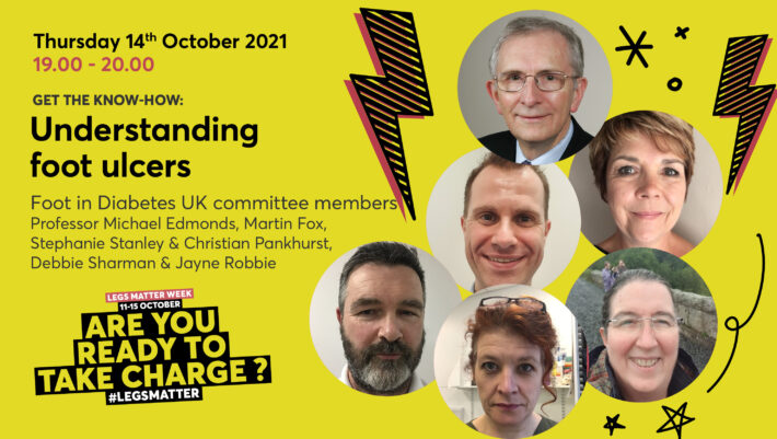 Committee members from Foot in Diabetes UK who will talk about understanding foot ulcers
